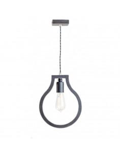 Lampka wisząca sufitowa BLOBI 1L sklejka kolor czarny - Fashion-Home