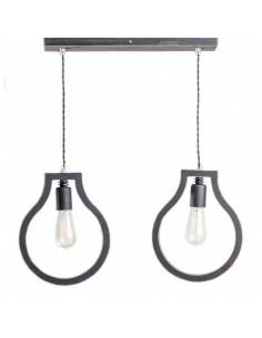 Lampka wisząca sufitowa BLOBI 2L sklejka kolor czarny - Fashion-Home