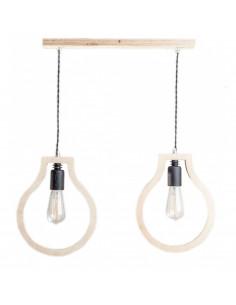 Lampka wisząca sufitowa BLOBI 2L sklejka kolor naturalny Fashion-Home