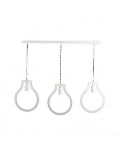 Lampka wisząca sufitowa BLOBI 3L sklejka kolor biały - Fashion-Home