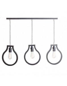 Lampka wisząca sufitowa BLOBI 3L sklejka kolor czarny - Fashion-Home