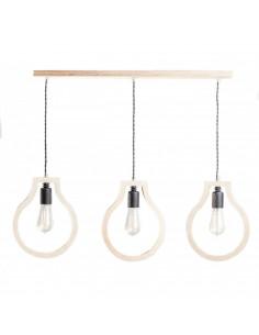 Lampka wisząca sufitowa BLOBI 3L sklejka kolor naturalny Fashion-Home