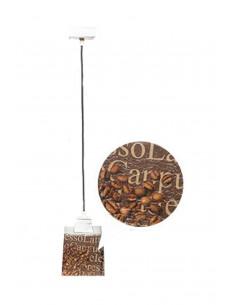 Lampa wisząca COFFEE 1L SCANDIA szkło włoskie ręczny dekor - FH