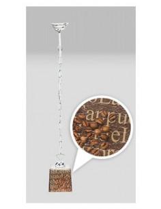 Lampa wisząca COFFEE 1L SCANDIA łańcuch szkło włoskie - Fashion-Home(1)
