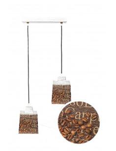 Lampa wisząca COFFEE 2L SCANDIA szkło włoskie ręczny dekor - FH