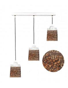 Lampa wisząca COFFEE 3L SCANDIA szkło włoskie ręczny dekor - FH