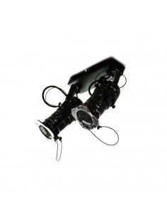 Kinkiet DRACO Reflektor 2 pkt czarny styl industrialny - Fashion-Home