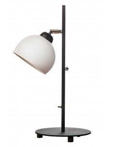 Lamka biurkowa FASHION biała kula styl nowoczesny - Fashion-Home