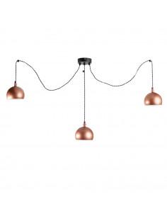 Lampa wisząca pająk FASHION 3LP MIEDŹ-CZARNY kula  styl modern - FH
