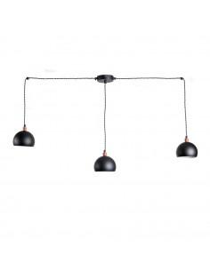 Lampa wisząca pająk FASHION 3NP CZARNY-CZARNY kula styl nowoczesny FH