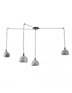 Lampa wisząca pająk FASHION 4NP BETON-CZARNY kula styl nowoczesny - FH