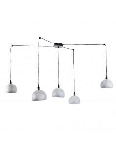 Lampa wisząca pająk FASHION 5NP BETON-CZARNY kula styl nowoczesny - FH