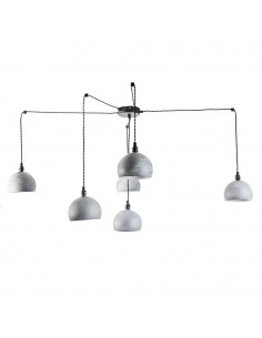 Pendant lamp spider FASHION 6NP concrete/Black