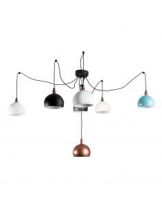 Lampa wisząca pająk FASHION 7LP 5 KOLORÓW-CZARNY styl nowoczesny - FH