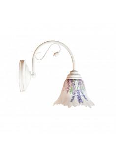 Kinkiet FLEUR szkło włoskie ręcznie dekorowane styl prowansalski - FH