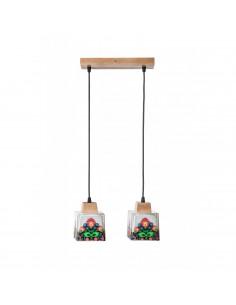 Lampa wisząca / sufitowa / FOLK 2A ręczna dekoracja Fashion-Home