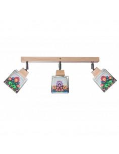 Plafond FOLK 3A/WAX WOOD - lampshade 12x12x12 hand decorated