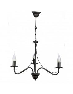 Provencal chandelier GIULIA 3 Graphite