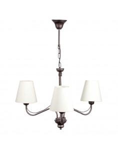 Provencal chandelier GIULIA 3 WENGE | Lampshade ECRU