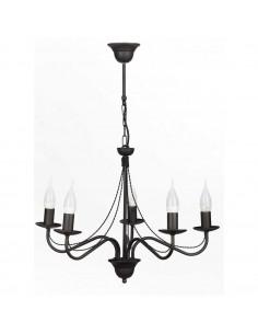 Provencal chandelier GIULIA 5 Graphite