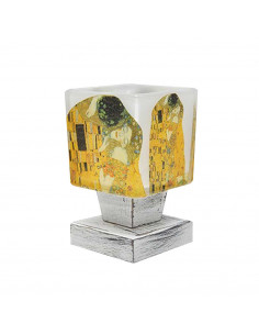Bedside lamp KLIMT - italian glass hand decorated