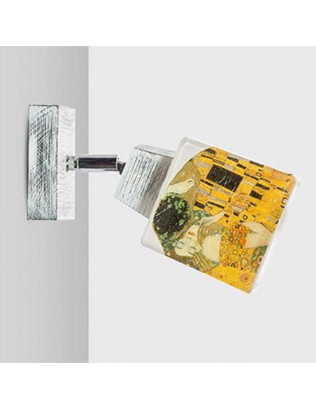 Kinkiet KLIMT SCANDIA - szkło włoskie ręcznie dekorowane Fashion-Home