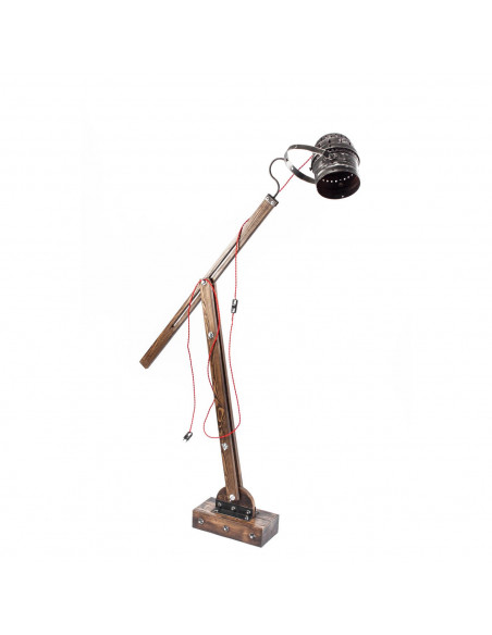Industrial floor lamp WOODEN GRU REFLEKTOR