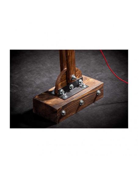 Lampa podłogowa industrialna WOODEN GRU drewno, stal - FH(2)