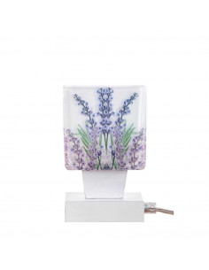 Bedside lamp LAWENDA | lampshade - italian glass hand decorated