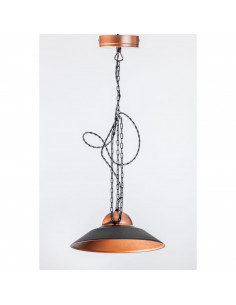 Pendant industrial lamp MAYA 28 Black/Cooper industrial lamp