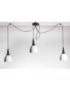 Lampa wisząca typu pająk MONNI 3 biały-czarny styl nowoczesny - FH