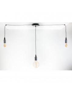 Lampa wisząca NAKE 3NP beton-czarny styl nowoczesny - Fashion-Home