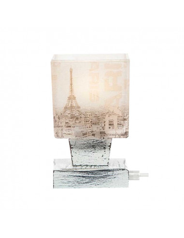 Bedside lamp PARIS - italian glass hand decorated