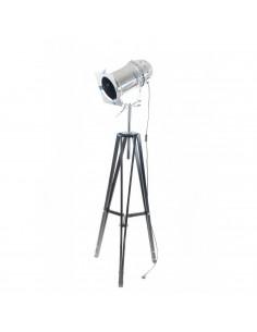 Lampa stojąca indsutrialna REFLEKTOR D podstawa czarna - Fashion-Home