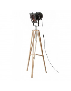 Floor lamp industrial REFLECTOR Black/Cooper