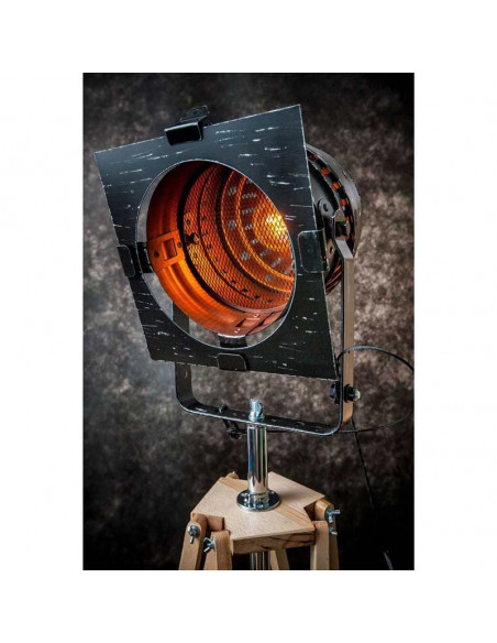 Lampa podłogowa / stojąca / REFLEKTOR CZARNY/MIEDŹ LAMPA STOJĄCA Fashion-Home
