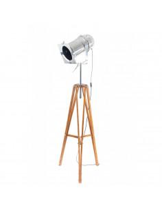 Lampa stojąca indsutrialna REFLEKTOR D podstawa brązowa -Fashion-Home