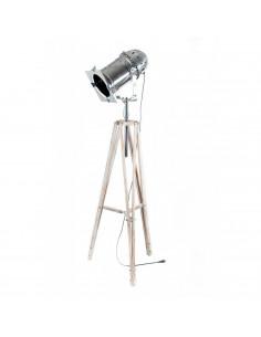 Lampa stojąca indsutrialna REFLEKTOR D podstawa kremowa -Fashion-Home