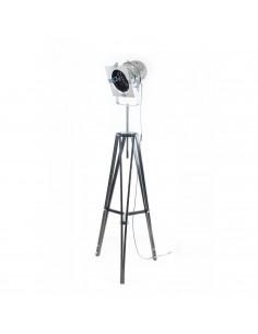 Lampa stojąca indsutrialna REFLEKTOR M podstawa czarna -Fashion-Home