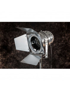 Lampa stojąca indsutrialna REFLEKTOR EXCLUSIVE podstawa drewno - FH
