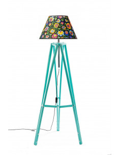 Floor lamp TRIPOD FOLK Mint Lampshade STOŻEK Black