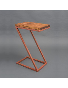 Industrial auxiliary table ZICO natural wood