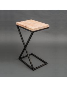 stolik-pomocniczy-kawowy-IKS-drewno-bielone-stal-postarzana-FH