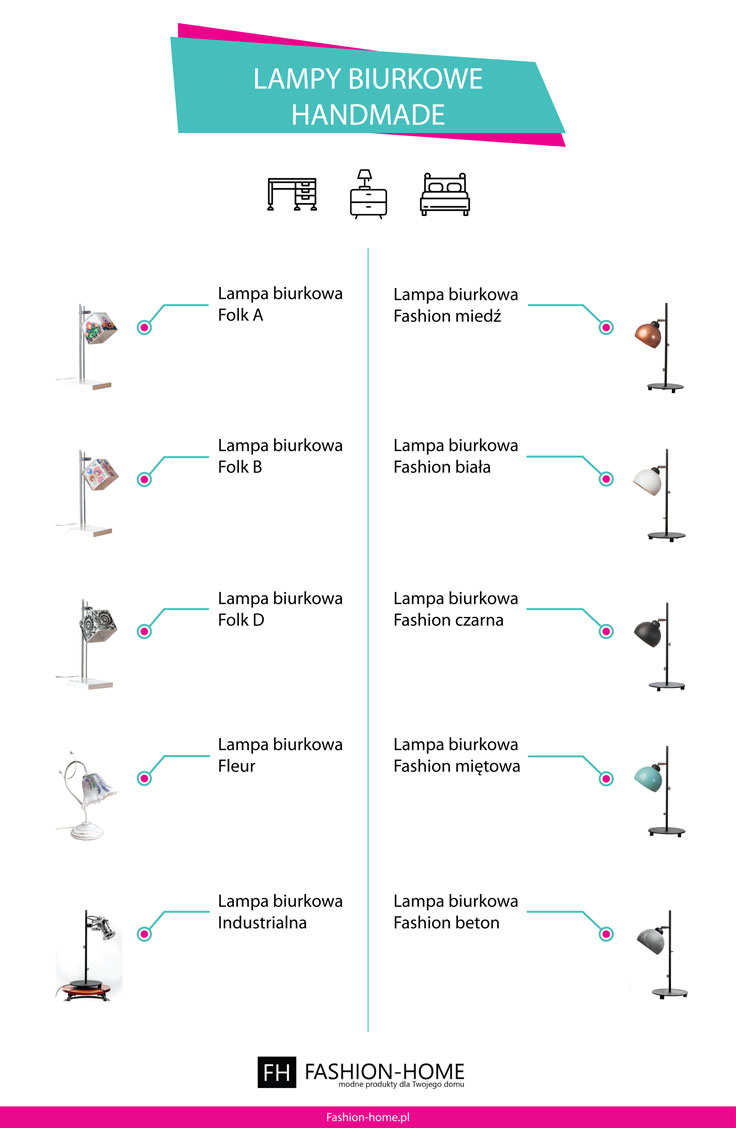 Lampy biurkowe handmade Fashion-home