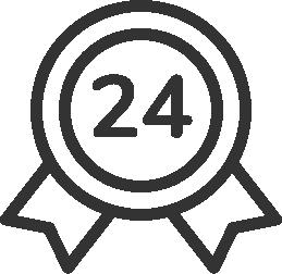 24 miesiące gwarancji